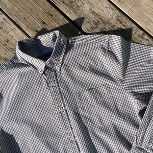 Tommy Hilfiger Navy/White Checked Button Down